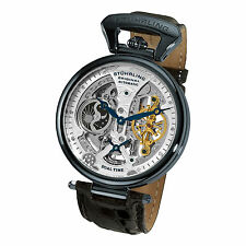 Stuhrling 127A2 33X52 Men's Emperor Grand DT Mechanical Skeleton Dual TIme Watch