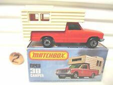 LESNEY MATCHBOX MB38D ORANGE Red + BEIGE FORD CAMPER MINT in Mint Picture Box*