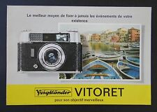 Catalogue appareil photo VOIGLANDER VITORET brochure catalog Katalog
