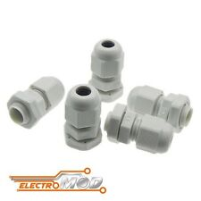 5x Prensaestopas M12 3 - 6,5 PG7 pasacables pasamuros cable gland racor