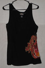 Harley-Davidson Womens Black Graphic Tank Top Shirt 1W 1X