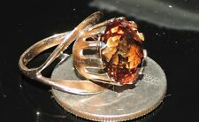 14K Y Gold Earth Mined 13 mm Imperial Topaz Ring 5.71 Grams 9.86 cts Size 6.5