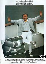 Publicité Advertising 1980  Chaussettes DIM pour hommes lingerie