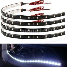 4x Flexible 30cm 15 SMD 3528 LED Car Neon White DRL Strip Light Waterproof Bulb