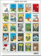 Belgium**YEAR 2007 COLLECTION-Complete 142stamps+TINTIN Albums Sheet-Bird-Flower