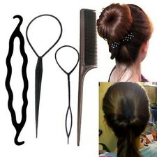 Women Fashion Twist Styling Clip Topsy Tail Bun Maker Braid Tool Hair Accessory