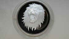 1969 Yemen 2 Riyals Lion Head Silver Proof coin