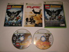 Lego Batman: The Video Game / Pure (Microsoft Xbox 360) Double Pack Complete Exc