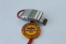 100% Genuine New Breitling Satin/Brushed Finish Push Button Deployment Clasp 18m
