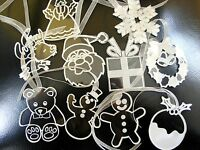 10 x acrylic Christmas decoration, tree ornaments engraved and personalised gift