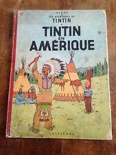 tintin en amérique B26 1958 les av de tintin par Hergé casterman côte BDM + 65e