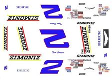 #2 Tom Sneva SIMONIZ 1/64th HO Scale Slot Car Decals