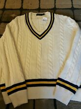 "Polo Ralph Lauren- Mens ""Cricket"" Cable Knit Sweater, XL-Retail $265-BNWT"