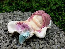 Miniature Figurine FAIRY GARDEN ~ Little Mermaid Sleeping in Seashell ~ NEW