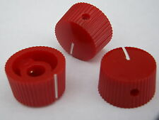 3 Red 20mm potentiometer knobs guitar amplifier radio pot knob + screw