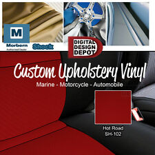 Shock Carbon Fiber Upholstery Vinyl for Automotive and General Seating RED