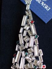 NEW IN BOX RETIRED RARE SIGNED SWAROVSKI CRYSTAL CHRISTMAS TREE PIN BROOCH 2.75""