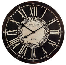 IMAX Large Wall Clock Oversized Silent Numeral Rustic Paris French Home Office