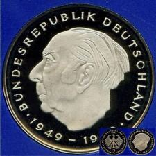 1980 G * 2 Deutsche Mark Theodor Heuss, Polierte Platte PP proof top