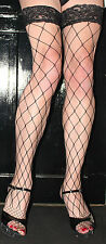 Large Black Fence Net/Whale Net Fishnet Toe Lace top Hold up Industrial Net