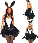 Sexy Adult Bunny Rabbit Ladies Fancy Dress Party Bar Halloween Costume M-2XL