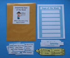 Teacher Made Center Educational Resource Game Sequencing Days of the Week