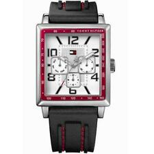 New Tommy Hilfiger Men Multi-Function Rubber Band Watch 35mm x 39mm 1790703 $125