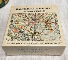 '73 Gameophiles Un. Pic Me Up Baltimore Road Map Jigsaw Puzzle 100 Pieces Sealed