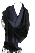 Two Sided Reversible Plain Pashmina Feel Wrap Scarf Shawl Stole Head Scarves