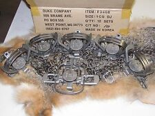 6  Duke #1 Coil Spring double jaw Traps Raccoon Mink Nutria Muskrat  Trapping