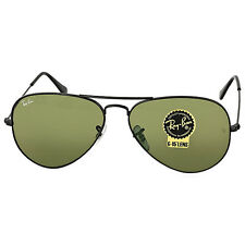 Ray-Ban Aviator Black/Green Sunglasses RB3025 L2823