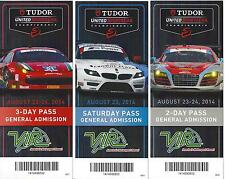 2014 IMSA TUDOR VIR Virginia Intenationa Raceway Collectable Tickets