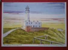 POSTCARD YORKSHIRE FLAMBOROUGH HEAD - THE LIGHTHOUSE WATER COLOUR