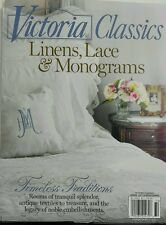 Victoria Classics Linens Lace & Monograms Special Issue Home FREE SHIPPING sb