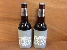 Coors Light Grey Beer Koozie Can / Bottle Cooler Coozie - New - 2 Pk - Free Ship