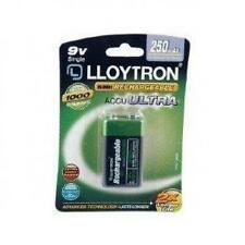 Lloytron NIMH AccuUltra Rechargeable Battery 9V 250mAh