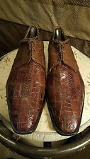 David Edens genuine Crocodile/lizard men dress shoes sz.10-M