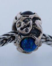 Authentic Trollbeads Troll with Gems 51711 New Glass & .925 Silver Charm Bead
