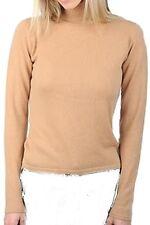 Balldiri 100% Cashmere Damen Pullover Rollkragen ohne Bündchen camel XXXL