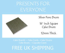 "1 x 16"" Inch Square Wedding Birthday Cake Drum / Board 12mm"
