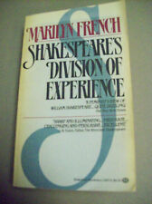 SHAKESPEARE'S DIVISION OF EXPERIENCE FEMINIST VIEW 1983