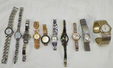 LOT OF 10 WOMENS WATCHES FOSSIL CITRON ANNE KLEIN DAISY FUENTES CIRA & MORE
