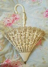 Vintage Syroco Wall Umbrella Parasol Planter- Gold Detail-Shabby Cottage chic