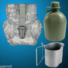 1 Qt Canteen Cover with US made Canteen & Stainless Steel Cup MOLLE ACU Digital