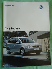 VW Touran brochure 2005 model year