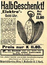 Elektro-Gold-Uhr System Glashütte Historische Annonce 1910