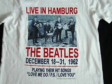 NEW NWT THE BEATLES LIVE IN HAMBURG T Shirt M Chest 95cm