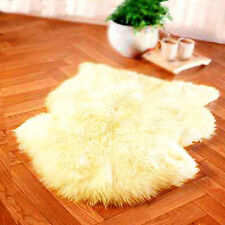 IVORY color - BIG GENUINE SINGLE SHEEPSKIN RUG sheep skin Fur Pelt SOFT HAIR z3