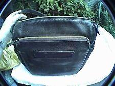 vintage old school fossil 75082 handbag purse shoulder bag black leather key