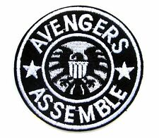 Avengers Assemble Iron On Patch- Marvel Shield Superhero Appliques Craft